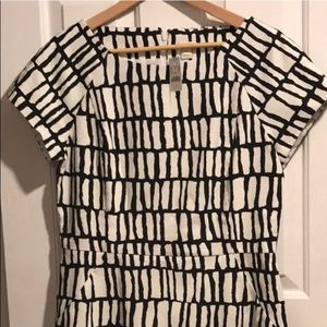 NWT Black and White J Crew pencil skirt dress